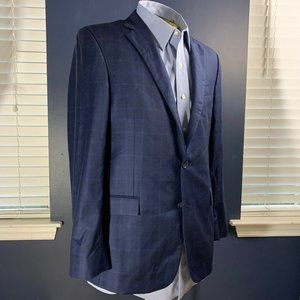 Brooks Brothers Regent Navy Blue Check Italian 40R